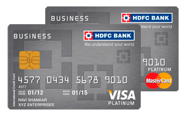 Hdfc forex plus business card