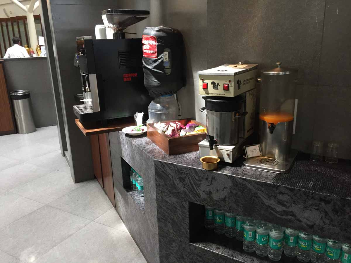 Coffee, Juices at Plaza Premium Lounge, Bangalore Airport