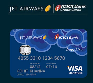 ICICI Jet Airways Sapphiro Credit Card