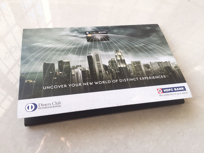 HDFC Diners Club Black Welcome Kit