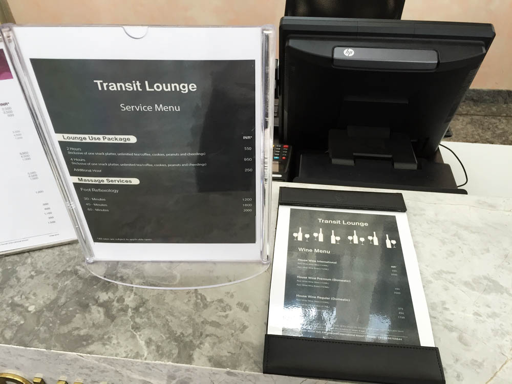 Transit Lounge Menu