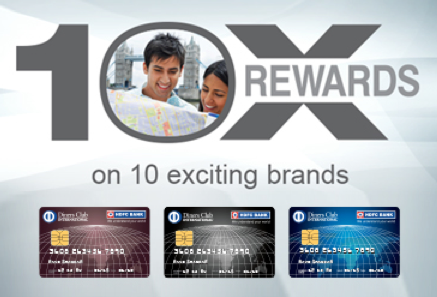 HDFC Diners club 10x rewards on 10 Brands