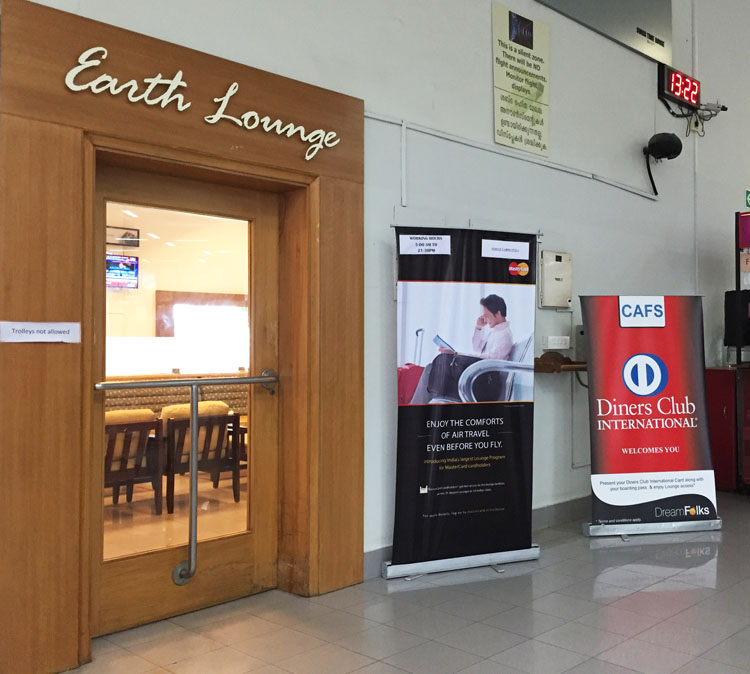 Earth Lounge Entrance Cochin Airport - Domestic Departure