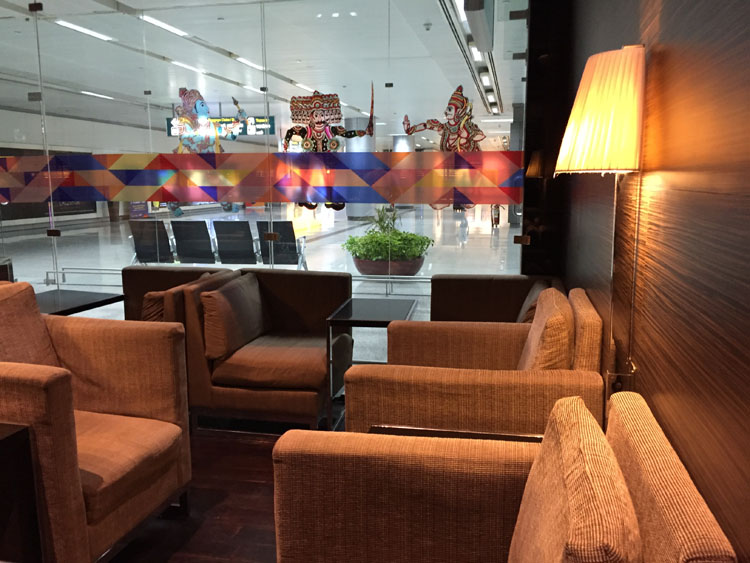 Plaza Premium Lounge Hyderabad interiors