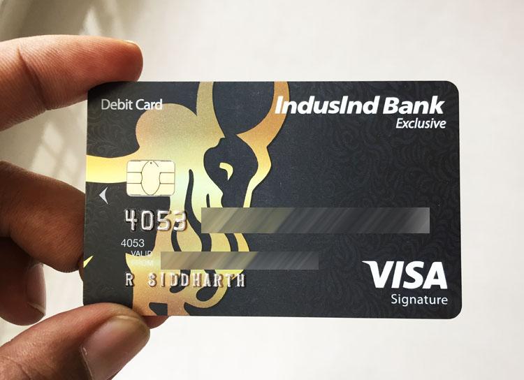 Indusind Bank Signature Exclusive Debit Card