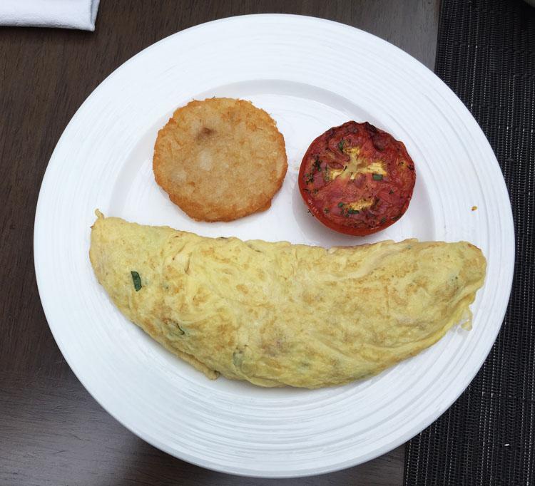 omelette at tiqri restaurant