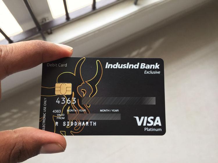 Indusind Platinum Exclusive Debit Card