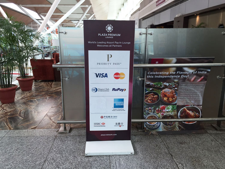 Plaza Premium Lounge at Delhi T1 - Entrance