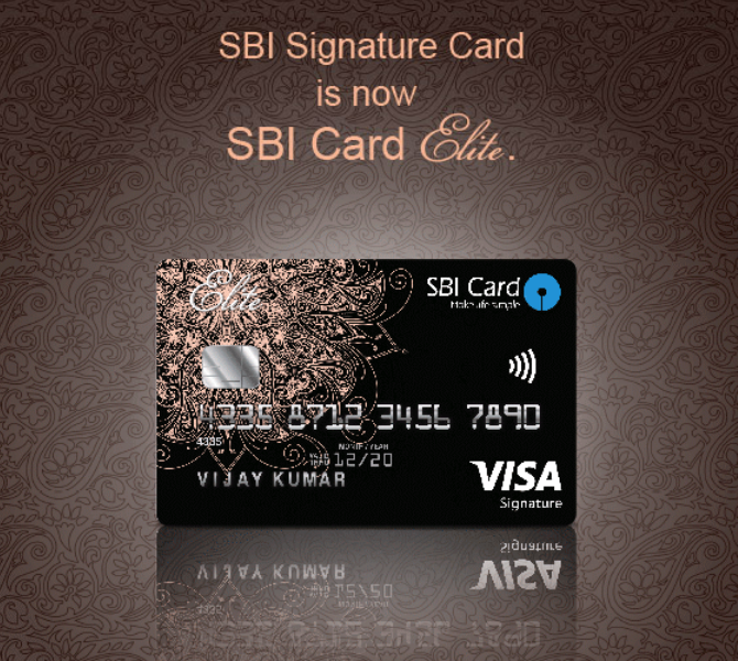 Sbi card elite signature