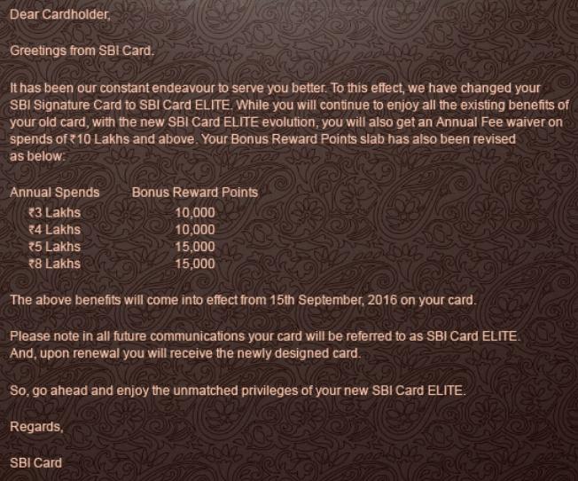 Sbi Elite Card Reward Structure