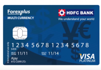 Hdfc bank multi currency forex plus platinum card