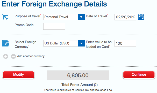 Hdfc forex travel card login
