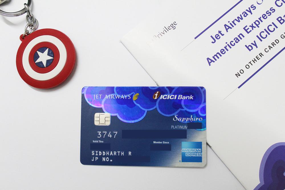ICICI Bank Jet Sapphiro Credit card