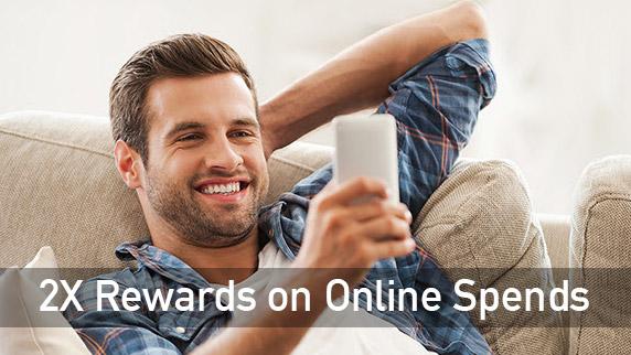 Amex 2X Reward Points on Online Spends Offer