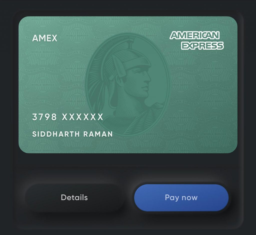 Amex Card on CRED
