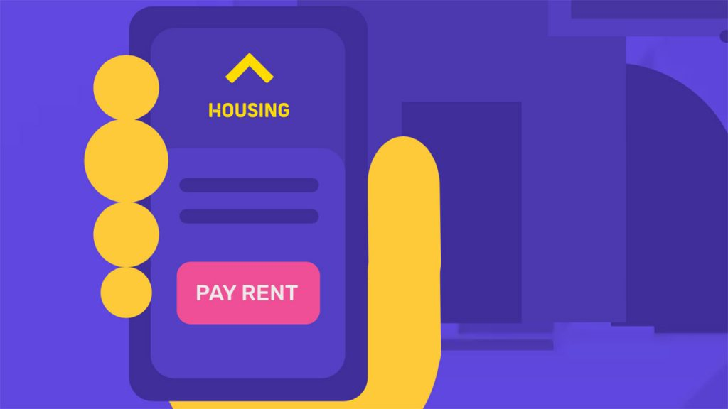 pay rent through credit card using Housing app