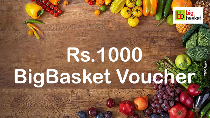 Sbicard BigBasket spend based offer