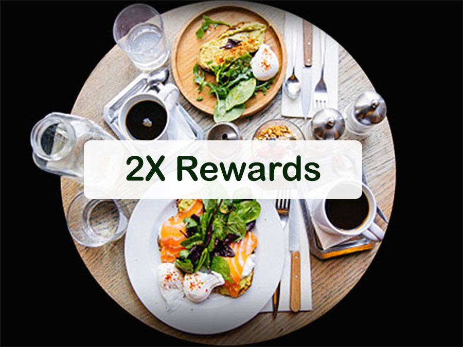 HDFC 2x rewards on dining