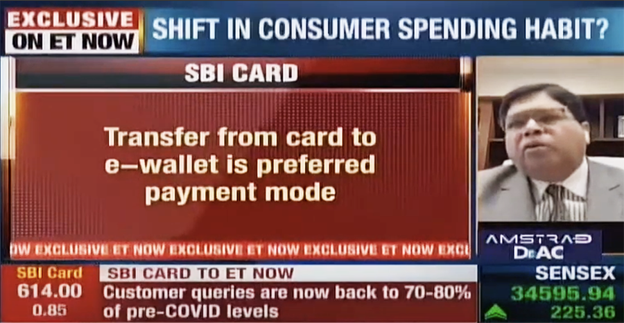 sbicard CEO etnow interview