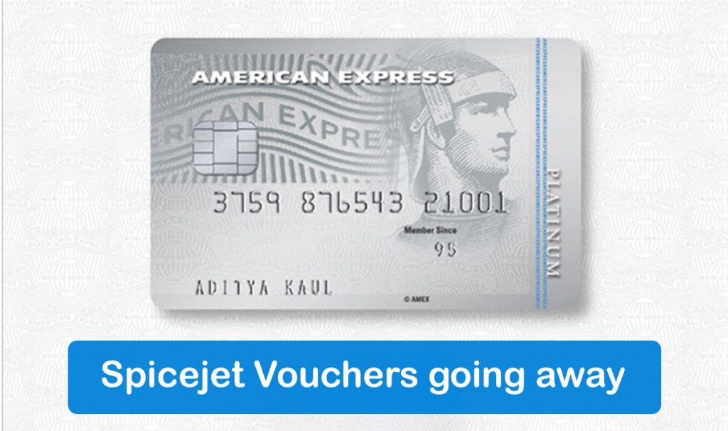 American Express Discontinues SpiceJet Vouchers on Plat Travel Card
