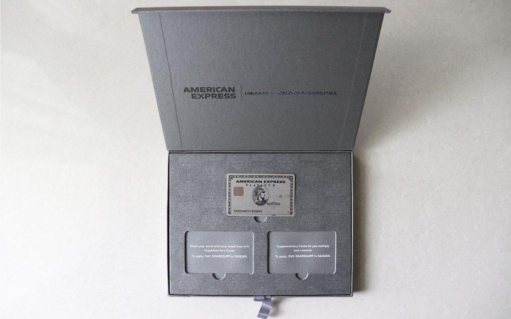 amex platinum box - inside