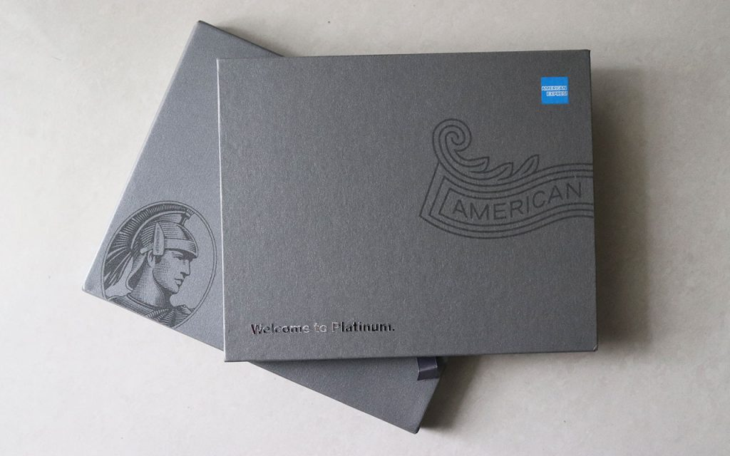 amex platinum card box and cover