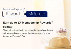 Amex Reward Multiplier Offer