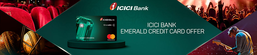 ICICI Bank Emeralde Credit Card Bookmyshow offer
