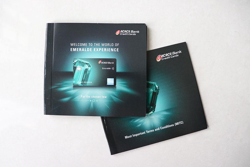 ICICI Emeralde Credit Card MITC