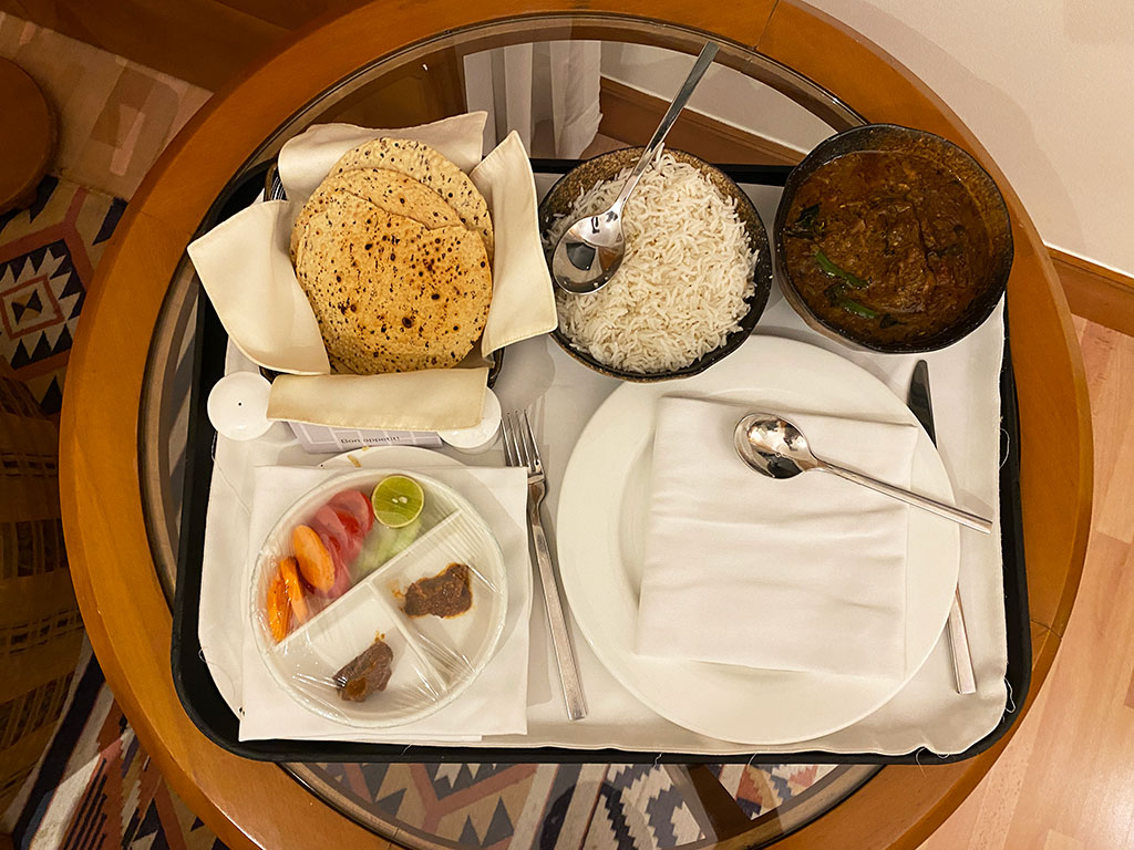 In Room Dining at Trident Chennai
