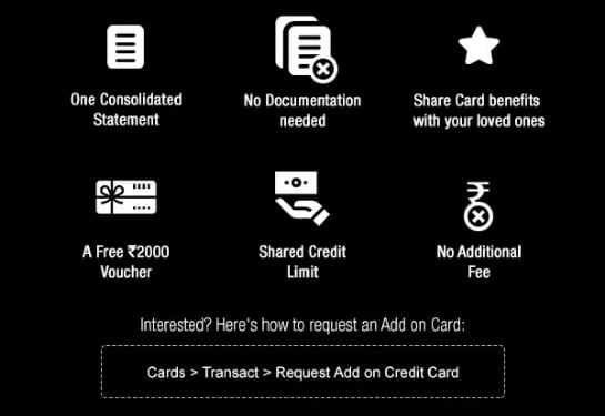 HDFC Credit Card Add-on Card offer