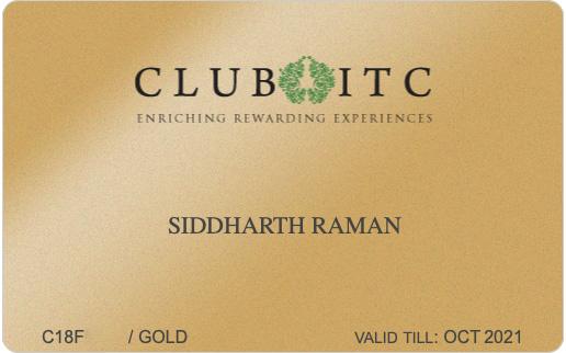 Club ITC Gold Membership Card