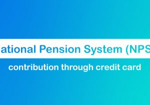 NPS contribution through credit cards