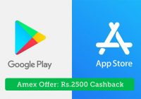 Amex Offer: 100% Cashback on App store and Play Store spends