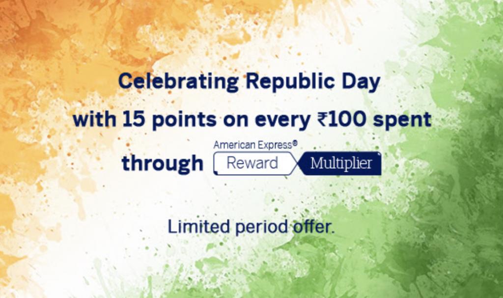 amex republic day offer rewards multiplier