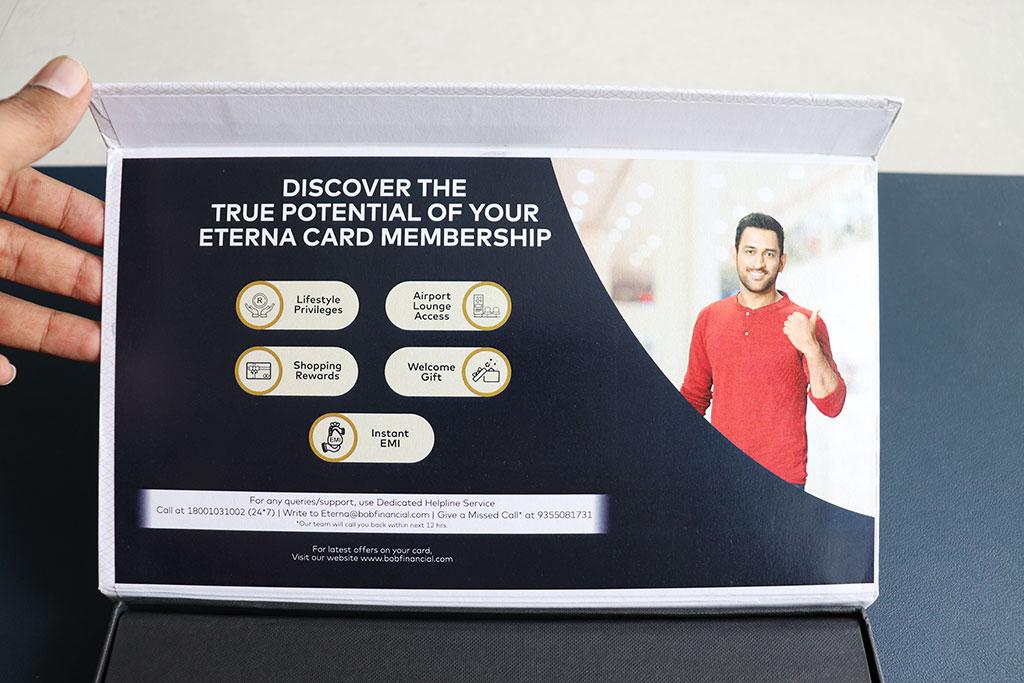 BOB Eterna add-on credit card - Closer look inside