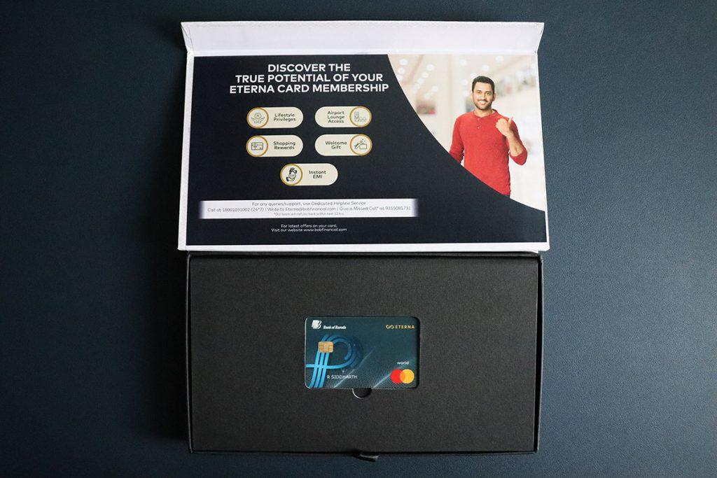 BOB Eterna add-on credit card - Inside