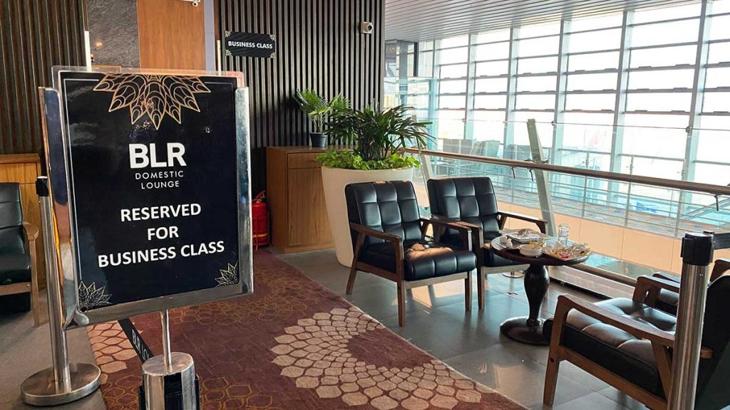 BLR Domestic Lounge - Business Class Section
