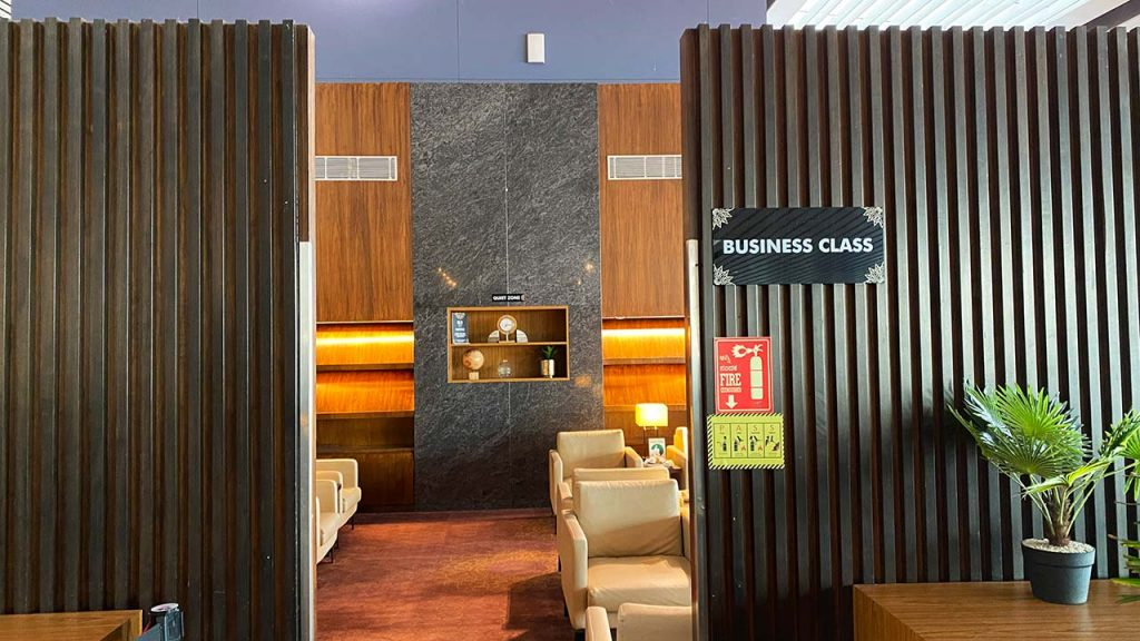BLR Domestic Lounge - Business Class Section - Entrance