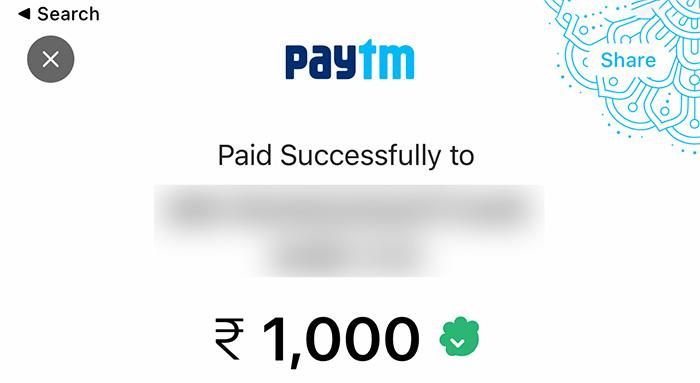 Paytm Wallet load