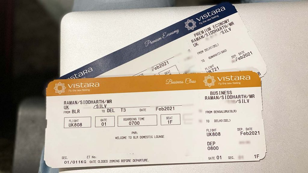 Vistara Business & premium economy Tickets