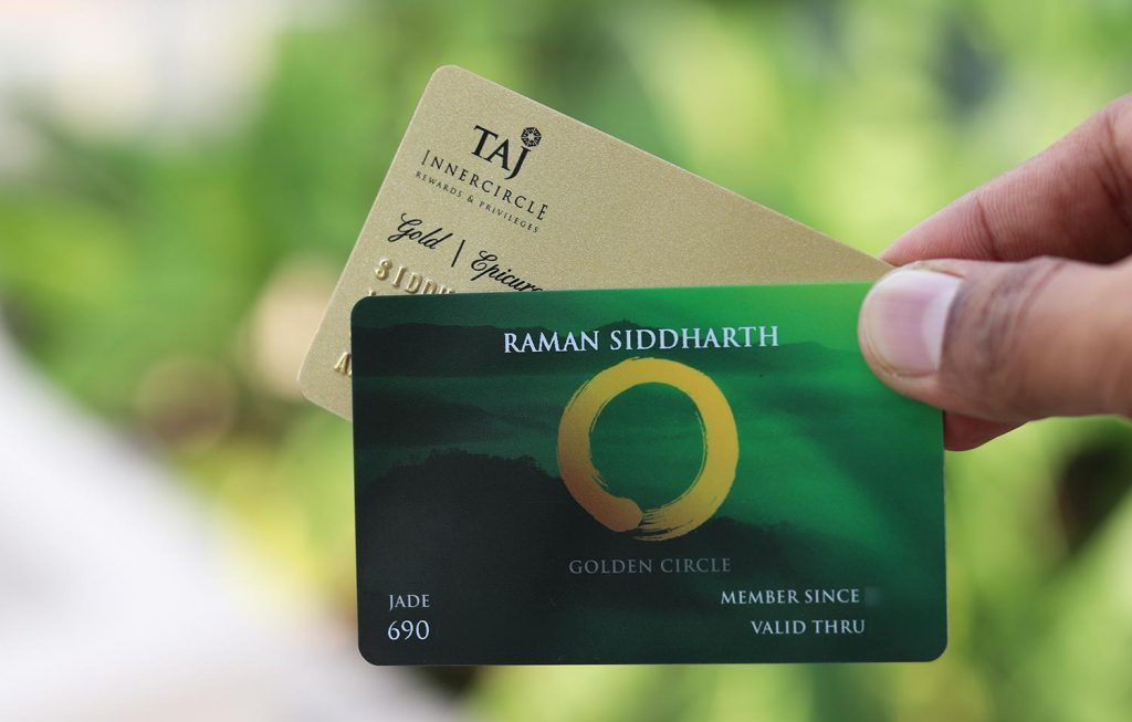 Shangri-La Golden Circle Jade and Taj innercircle gold membership cards