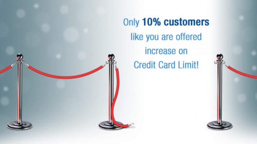 HDFC Credit Card Limit Enhancement offer