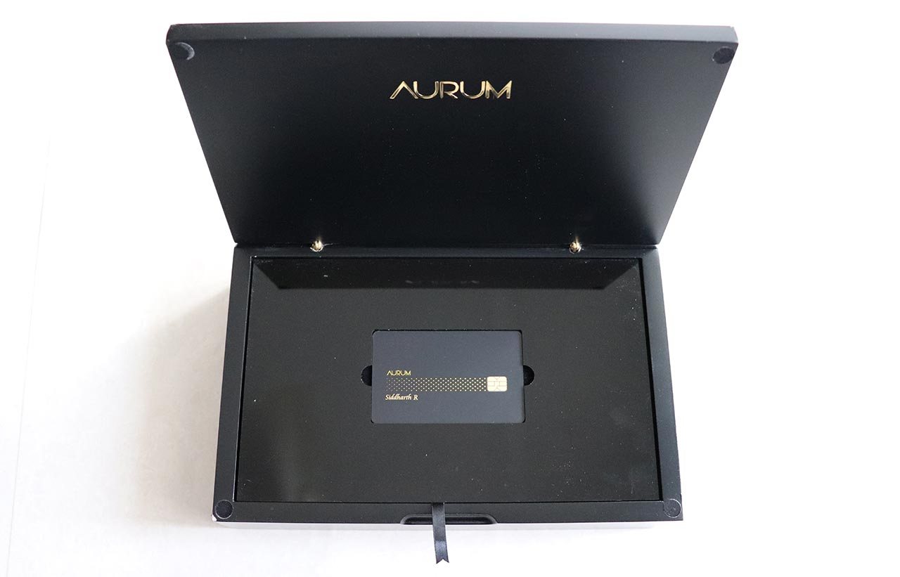SBICard Aurum - Opened Box