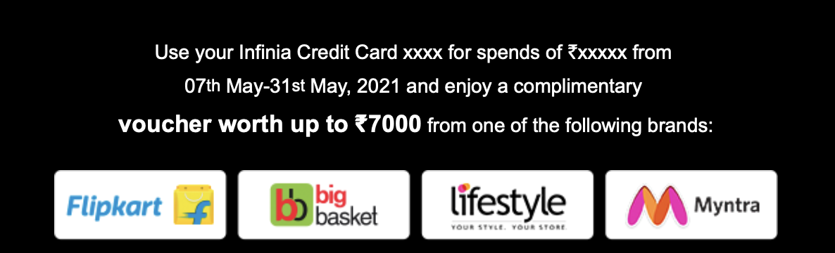 HDFC Spend Based Offer - May 2021