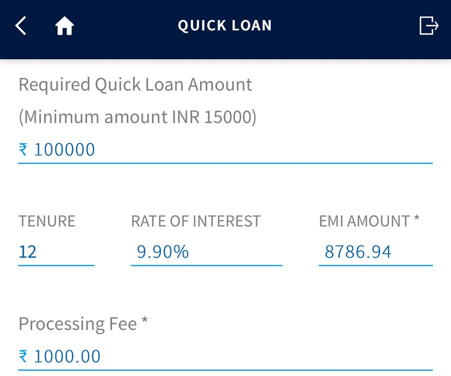 Yes Bank loan on credit card offer