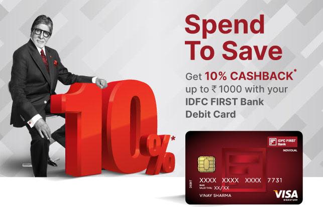 IDFC Debit Card Offer June 2021