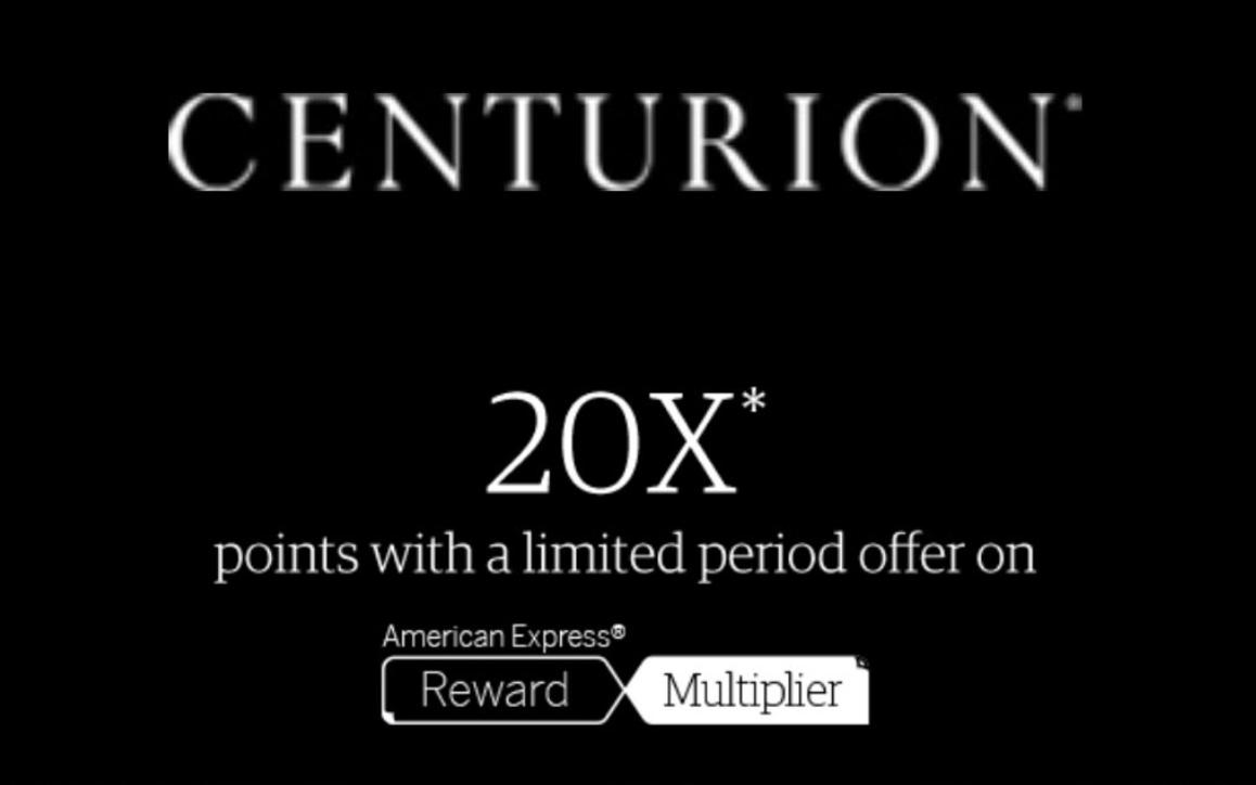 Amex Rewards Multiplier Centurion offer