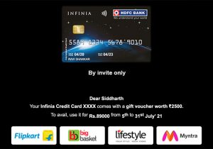 hdfc credit card spend offer - July 2021