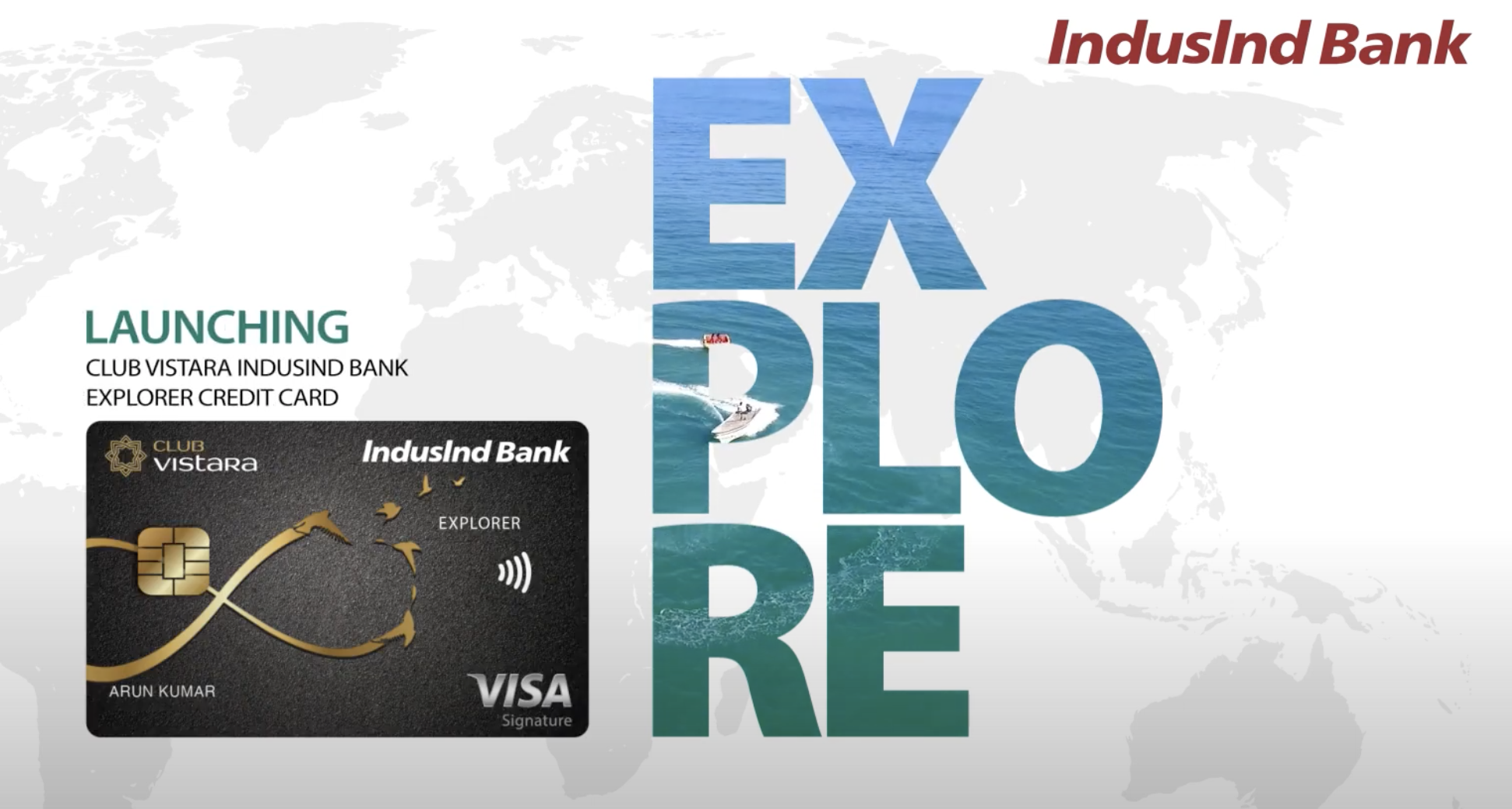 Club Vistara IndusInd Bank Explorer Credit Card